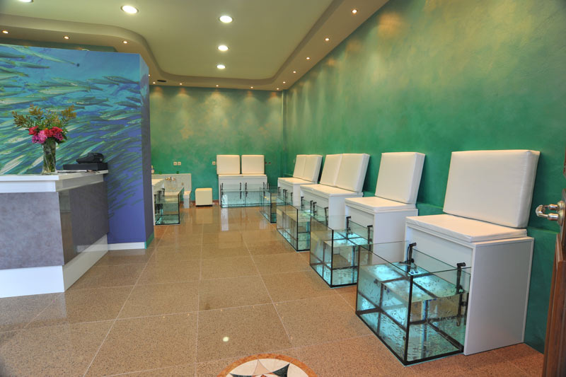 Garra rufa aquarium design for Fish spa near me