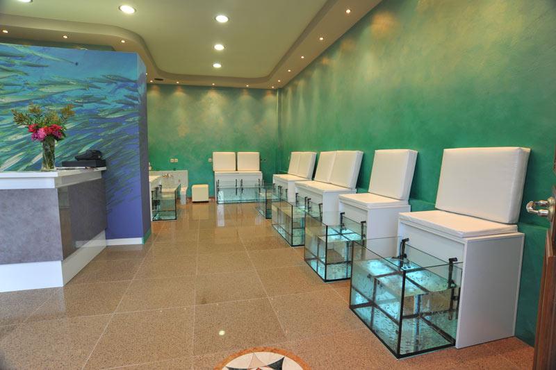 Garra rufa aquarium design for Fish spa near me