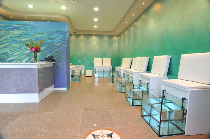 Fish spa aquarium for Fish spa near me